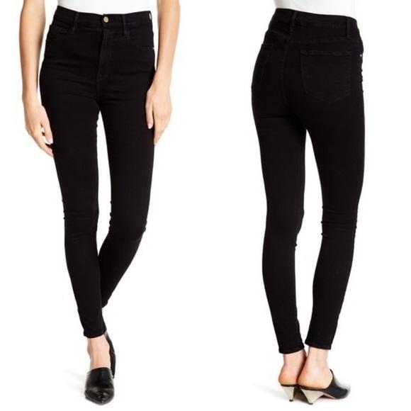 Frame Denim Denim - • FRAME • Ali High Rise Skinny Jeans Radlock Black